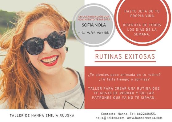 Rutinas exitosas con Sofía Nola